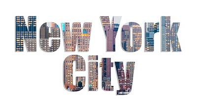 Photograph - New York Font V2 by Rospotte Photography