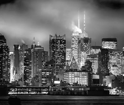 Photograph - New York From Weehawken by Rospotte Photography