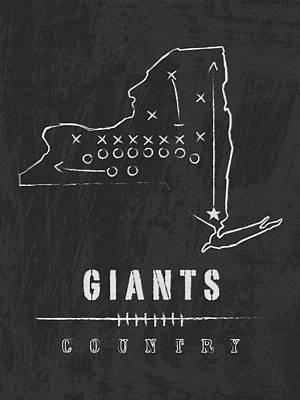 New York Giants Art - Nfl Football Wall Print Art Print by Damon Gray