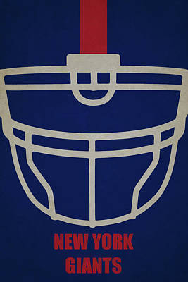 Football Painting - New York Giants Helmet Art by Joe Hamilton