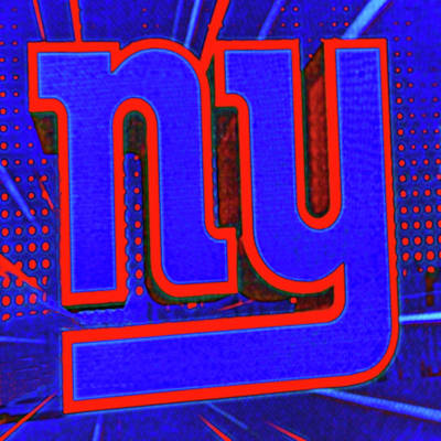 Photograph - New York Giants Logo # 2 by Allen Beatty