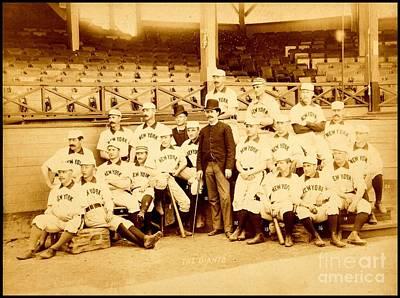 Photograph - New York Giants New York Baseball Club 1888 by Peter Gumaer Ogden Collection