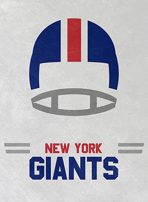 Mixed Media - New York Giants Vintage Art by Joe Hamilton