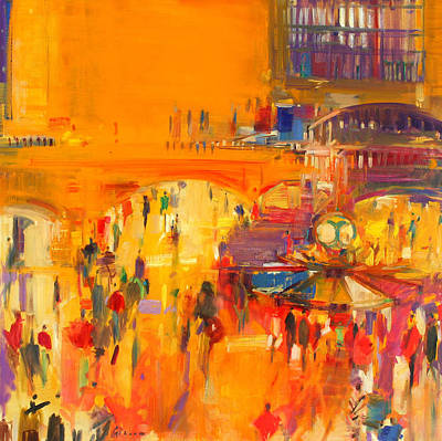 Terminal Painting - New York  Grand Central by Peter Graham