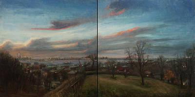 New York Harbor And The Narrows Original by Sarah Yuster
