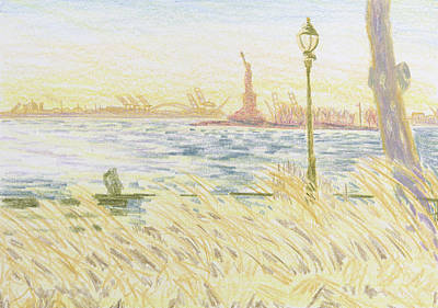 Bethany Lee Painting - New York Harbor by Bethany Lee