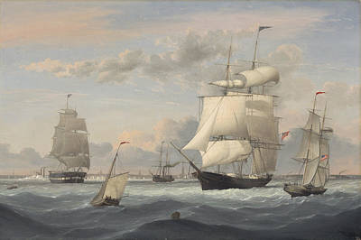 Fitz Painting - New York Harbor by Fitz Henry Lane
