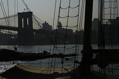 South Street Seaport Photograph - New York Harbor Haze by Christopher Kirby