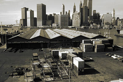 Photograph - Old New York Harbor Skyline by Art America Gallery Peter Potter