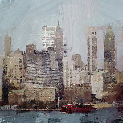 Digital Art - New York Harbor View by Yury Malkov