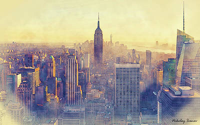 Design Painting - New York-i Love You-14 by Nikolay Ivanov