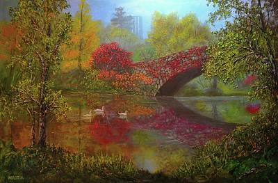 Painting - New York In Fall by Michael Mrozik