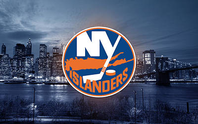 Digital Art - New York Islanders Artwork  by Nicholas Legault