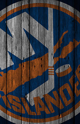 New Jersey Digital Art - New York Islanders Wood Fence by Joe Hamilton