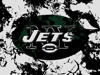 Patriot Mixed Media - New York Jets 1b by Brian Reaves