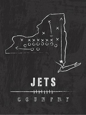 New York Jets Art - Nfl Football Wall Print Art Print by Damon Gray