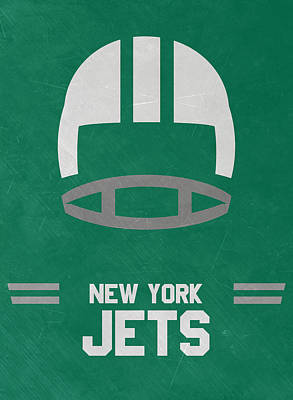Jets Mixed Media - New York Jets Vintage Art by Joe Hamilton