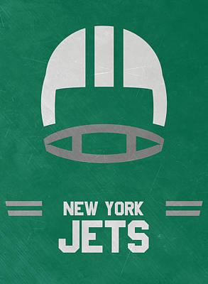 New York Jets Vintage Art Art Print by Joe Hamilton