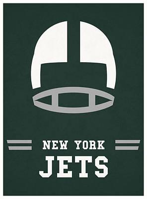 Jet Mixed Media - New York Jets Vintage Nfl Art by Joe Hamilton