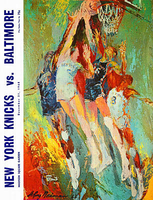 New York Knicks Painting - New York Knicks 1968 Vintage Program by Big 88 Artworks