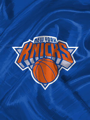 Cafe Digital Art - New York Knicks by Afterdarkness