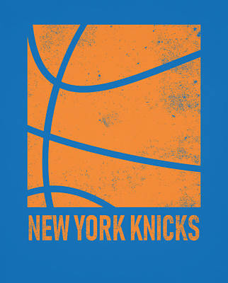 Mixed Media - New York Knicks City Poster Art 2 by Joe Hamilton