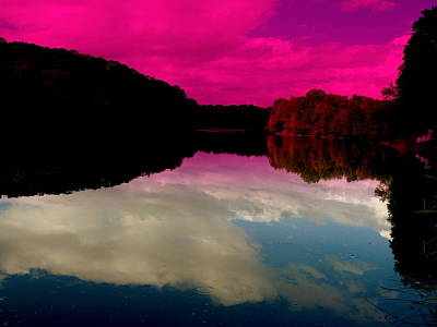 Funkpix Digital Art - New York Lakeside by Funkpix Photo Hunter