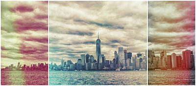 City Sunset Photograph - New York Lightleak by Martin Newman