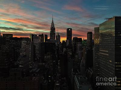 Photograph - New York Lights - Colors Of Sunset by Miriam Danar