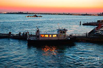 Photograph - New York, Lower Manhattan Harbor by Christopher Shellhammer