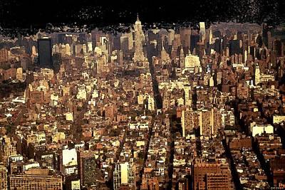 Painting - New York Manhattan 2001 - Modern Art by Peter Potter
