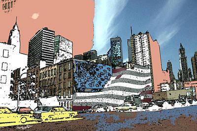 New York City Painting - Manhattan 92 - New York Pop Art by Art America Gallery Peter Potter