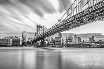 Word Signs - New York Manhattan Bridge  by Roman Gomez