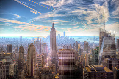 Photograph - New York Manhattan Skyline by David Pyatt