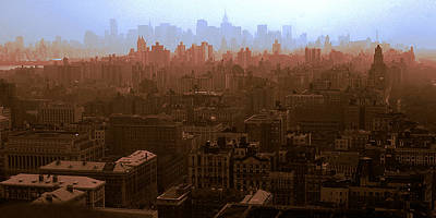 Photograph - New York Manhattan Skylines by Art America Gallery Peter Potter
