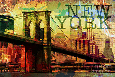 Digital Art - New York by Maria Arango