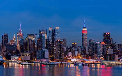 New York City Skyline Wall Art - Digital Art - New York by Maye Loeser