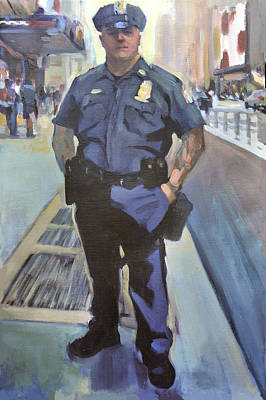 Cop Painting - New York by Merle Keller