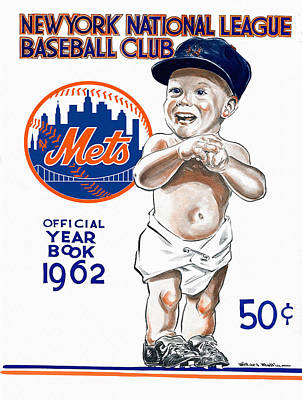 Shea Stadium Painting - New York Mets 1962 Yearbook by Big 88 Artworks