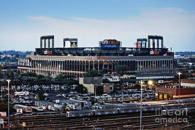 New York Mets Citi Field Art Print by Nishanth Gopinathan