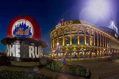 New York Mets Citi Field Stadium Art Print by Susan Candelario