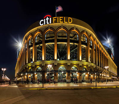 New York Mets Citi Field  Art Print by Susan Candelario