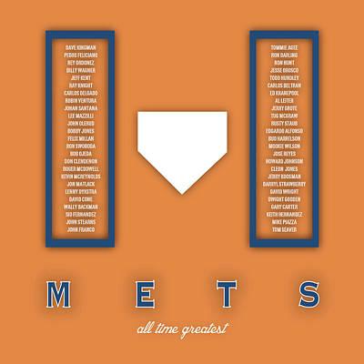 Mlb Digital Art - New York Mets Art - Mlb Baseball Wall Print by Damon Gray