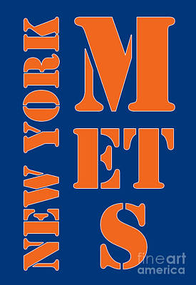 New York Mets Typography Art Print by Pablo Franchi