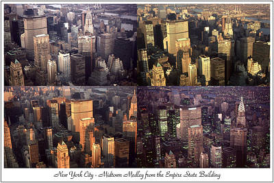 Photograph - New York Mid Manhattan Medley - Photo Art Poster by Art America Gallery Peter Potter