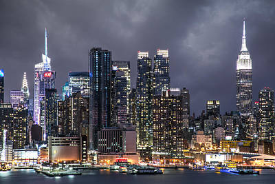 Photograph - New York Midnight by Elvira Pinkhas