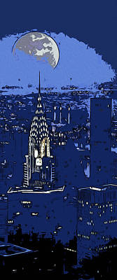 Painting - New York Moonlight by Andrea Mazzocchetti