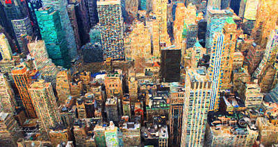 Painting - New York, New York by Chris Armytage