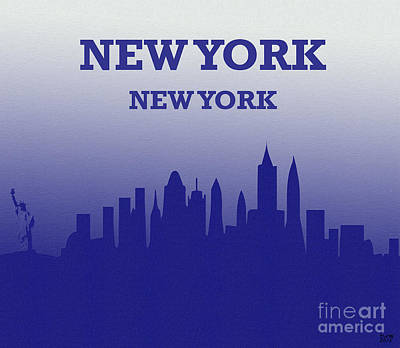 Empire State Building Mixed Media - New York New York Large Canvas Art, Canvas Print, Large Art, Large Wall Decor, Home Decor by David Millenheft