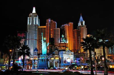 Photograph - New York New York Hotel And Casino by Eddie Yerkish